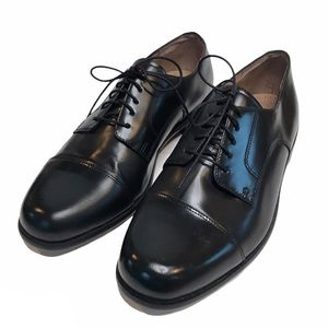 BOSTONIAN Cap Toe Black Leather Lace Up Dress Shoe
